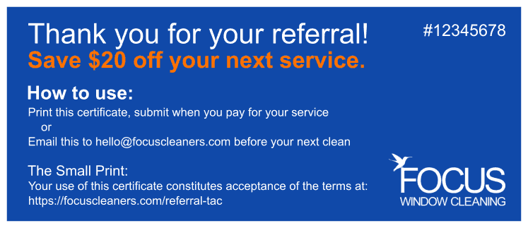 Referral Certificate Example